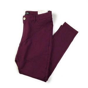 One 5 One Eggplant Purple Jodi Skinny Pants NWT